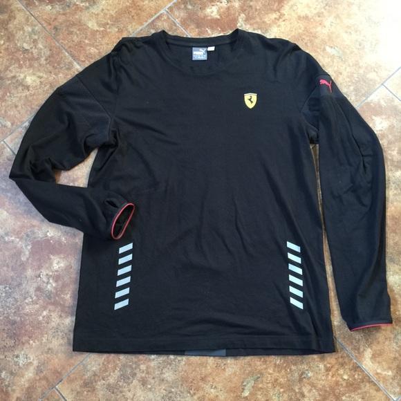 3342f919d55373 Puma Men's Scuderia Ferrari Long Sleeve Top NWOT. M_5b4e8724283095f3c830ad16